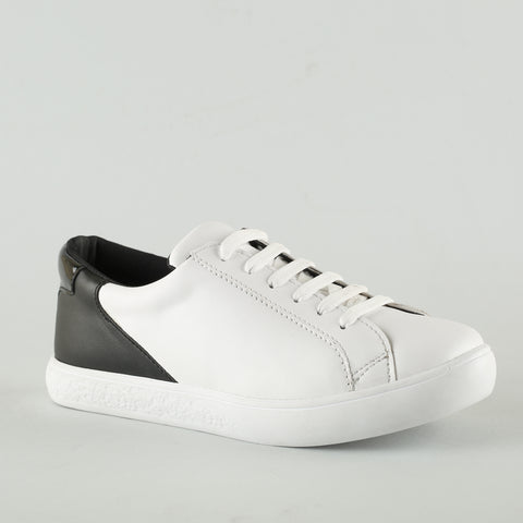 Sneaker white with back Black