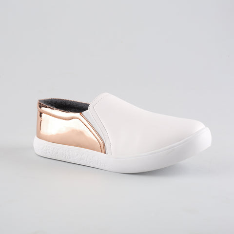Sneaker Rose Gold with White