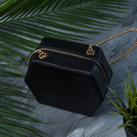 Black Hexa cross bag