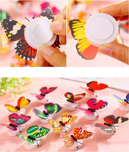 LED 3D Butterfly Wall Lights (12 Pieces)