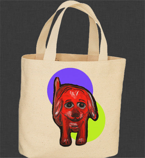 Canvas Tote Bag - Red Dog
