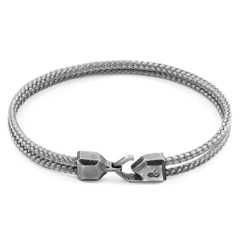 Classic Grey Cromer Silver and Rope Bracelet