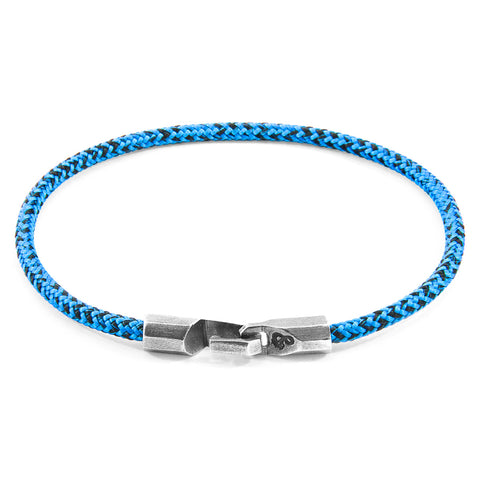 Blue Noir Talbot Silver and Rope Bracelet