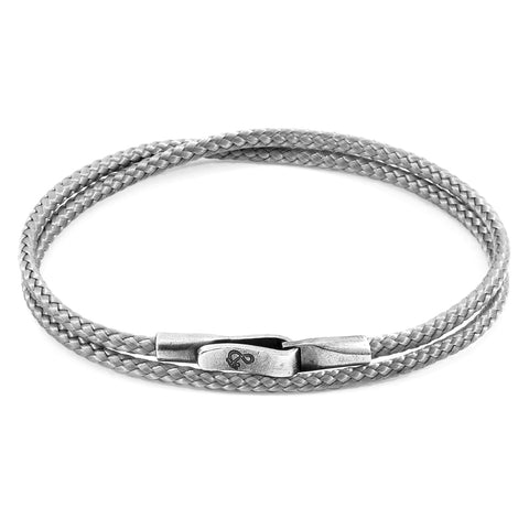 Classic Grey Liverpool Silver and Rope Bracelet
