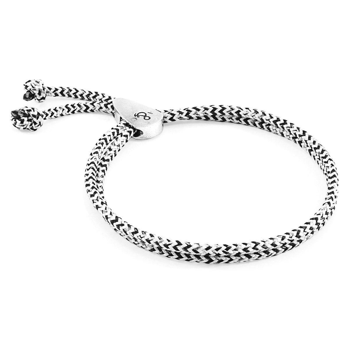 White Noir Pembroke Silver and Rope Bracelet