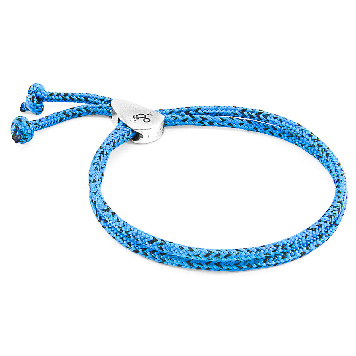 Blue Noir Pembroke Silver and Rope Bracelet