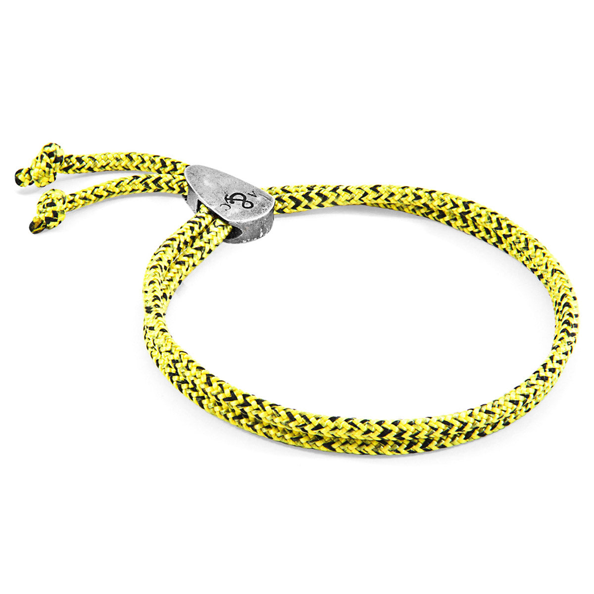 Yellow Noir Pembroke Silver and Rope Bracelet
