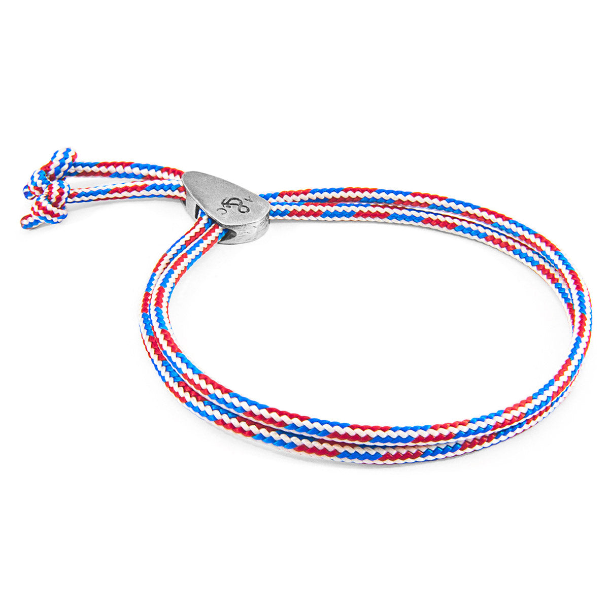Project-RWB Red White and Blue Pembroke Silver and Rope Bracelet