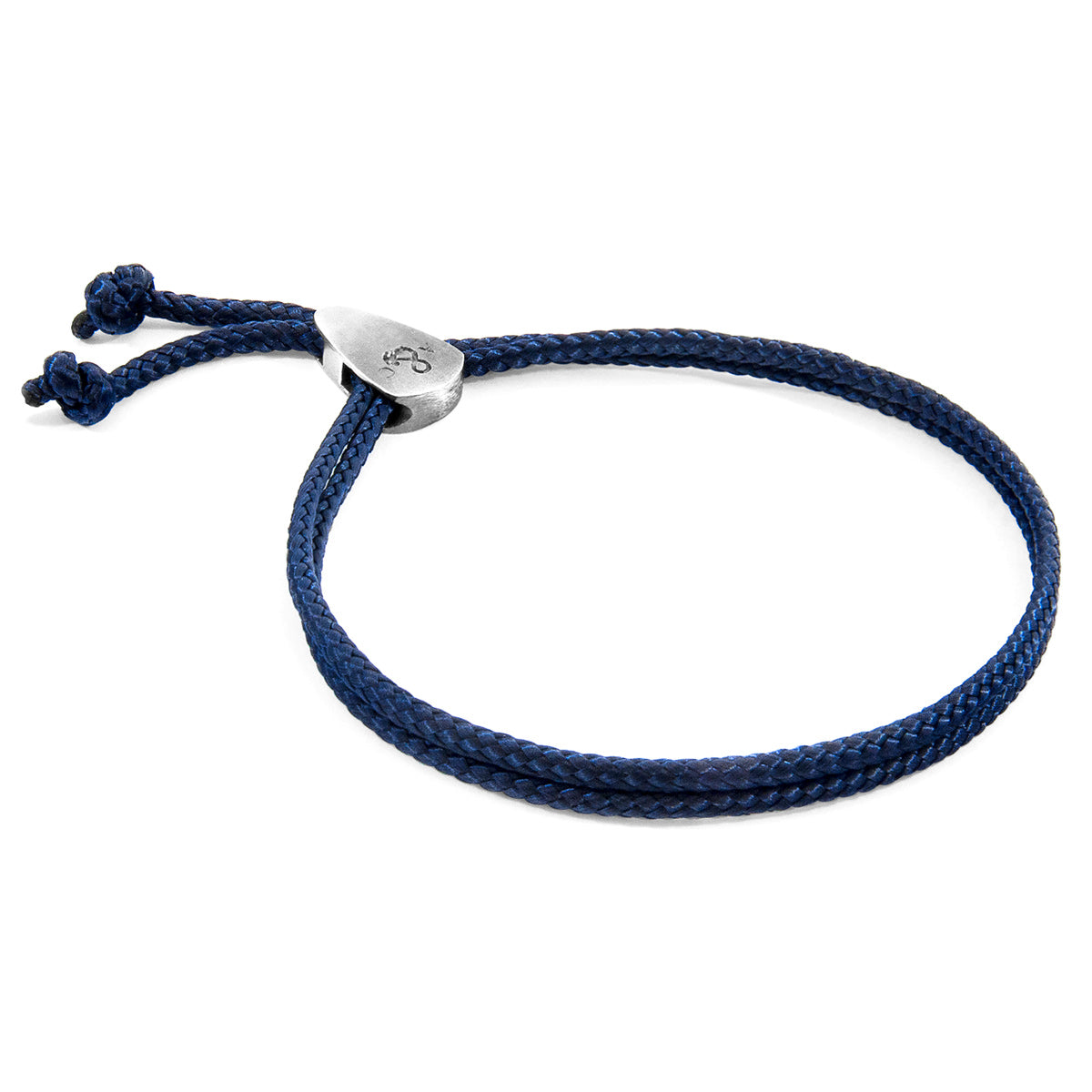 Navy Blue Pembroke Silver and Rope Bracelet