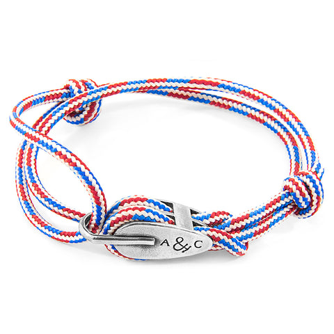 Project-RWB Red White and Blue Tyne Silver and Rope Bracelet
