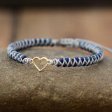 MACRAME BRACELET WITH HEART CHARM