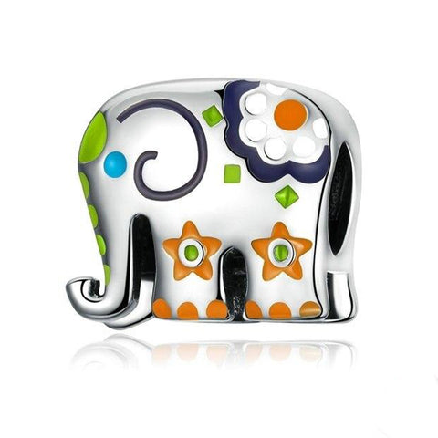 HAPPY ELEPHANT Sterling Silver Charm