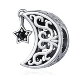 MOON AND STAR Sterling Silver Charm