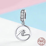 THE WAVES Sterling Silver Charm