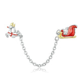 SLEIGH RIDE Christmas Sterling Silver Charm