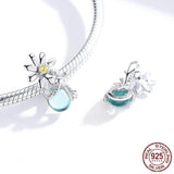 FIREFLIES AND DAISY Sterling Silver Charm