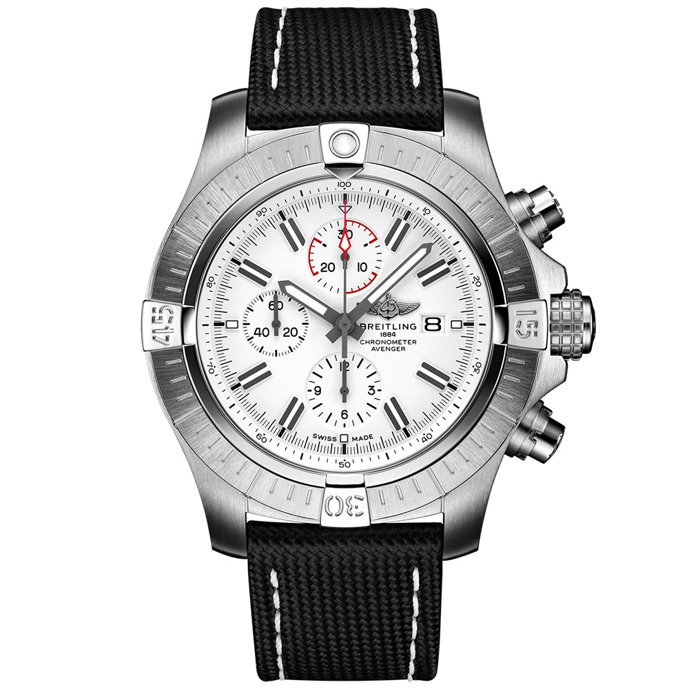 BREITLING SUPER AVENGER CHRONOGRAPH 48 Stainless Steel - White