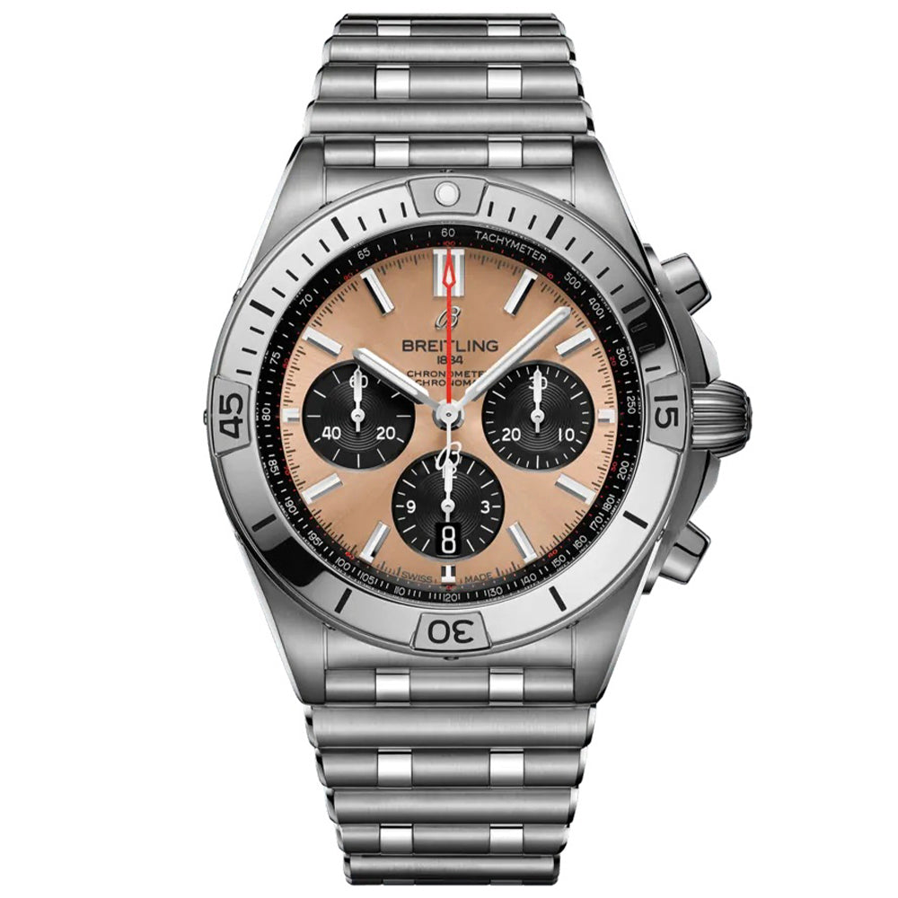 BREITLING CHRONOMAT B01 42 Stainless Steel - Copper
