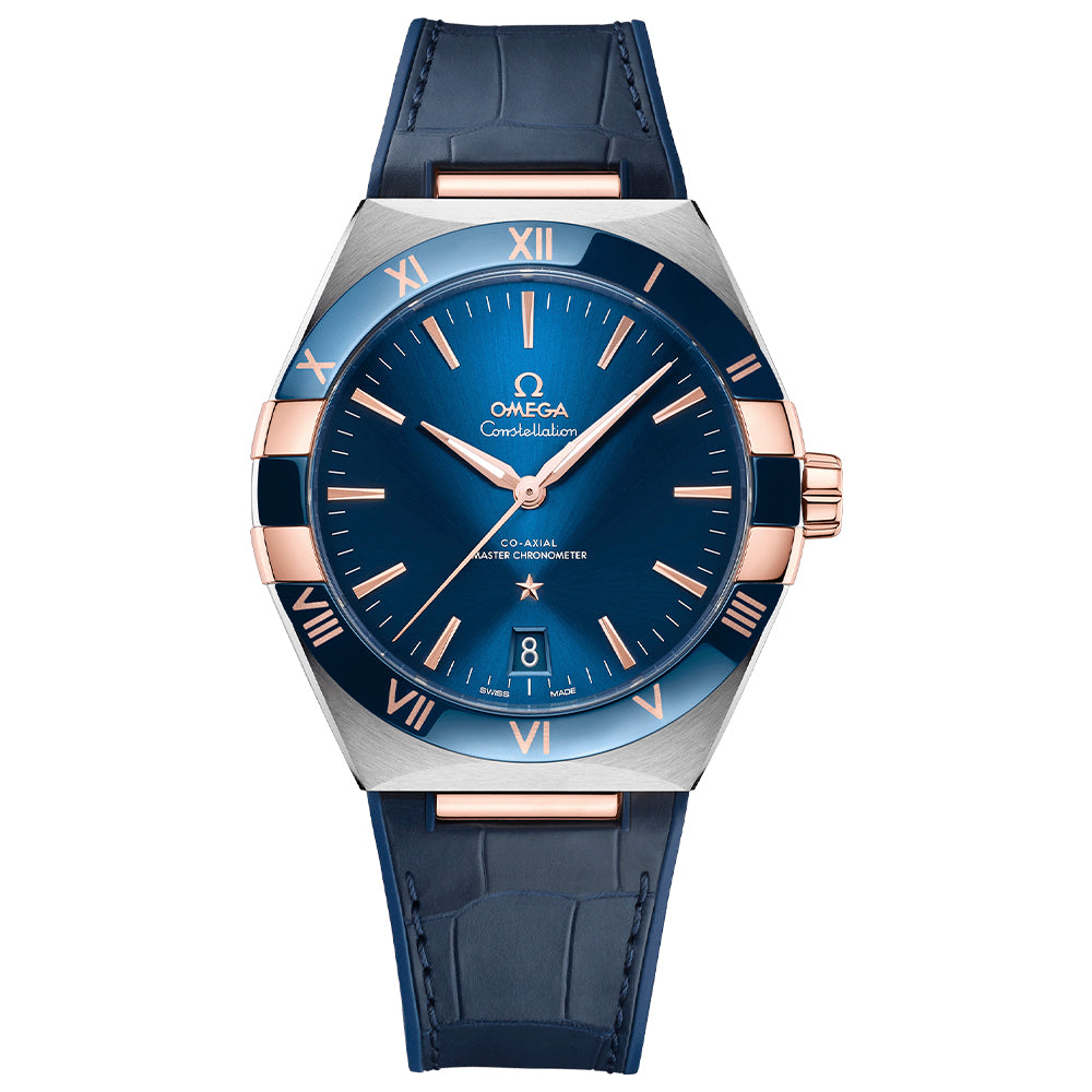 OMEGA CONSTELLATION 41MM - Steel and Sedna Gold with Blue Face