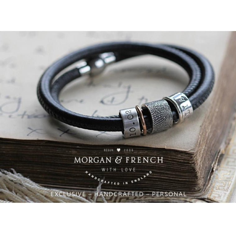 Story Bracelet with Fingerprint Bead