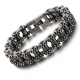 Retro Heavy Stainless Steel Motorcycle Chain Bracelet