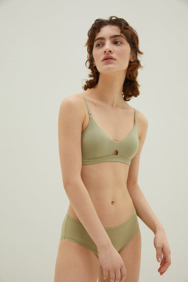 NEIWAI Convertible Soft Modal Bra in Avocado