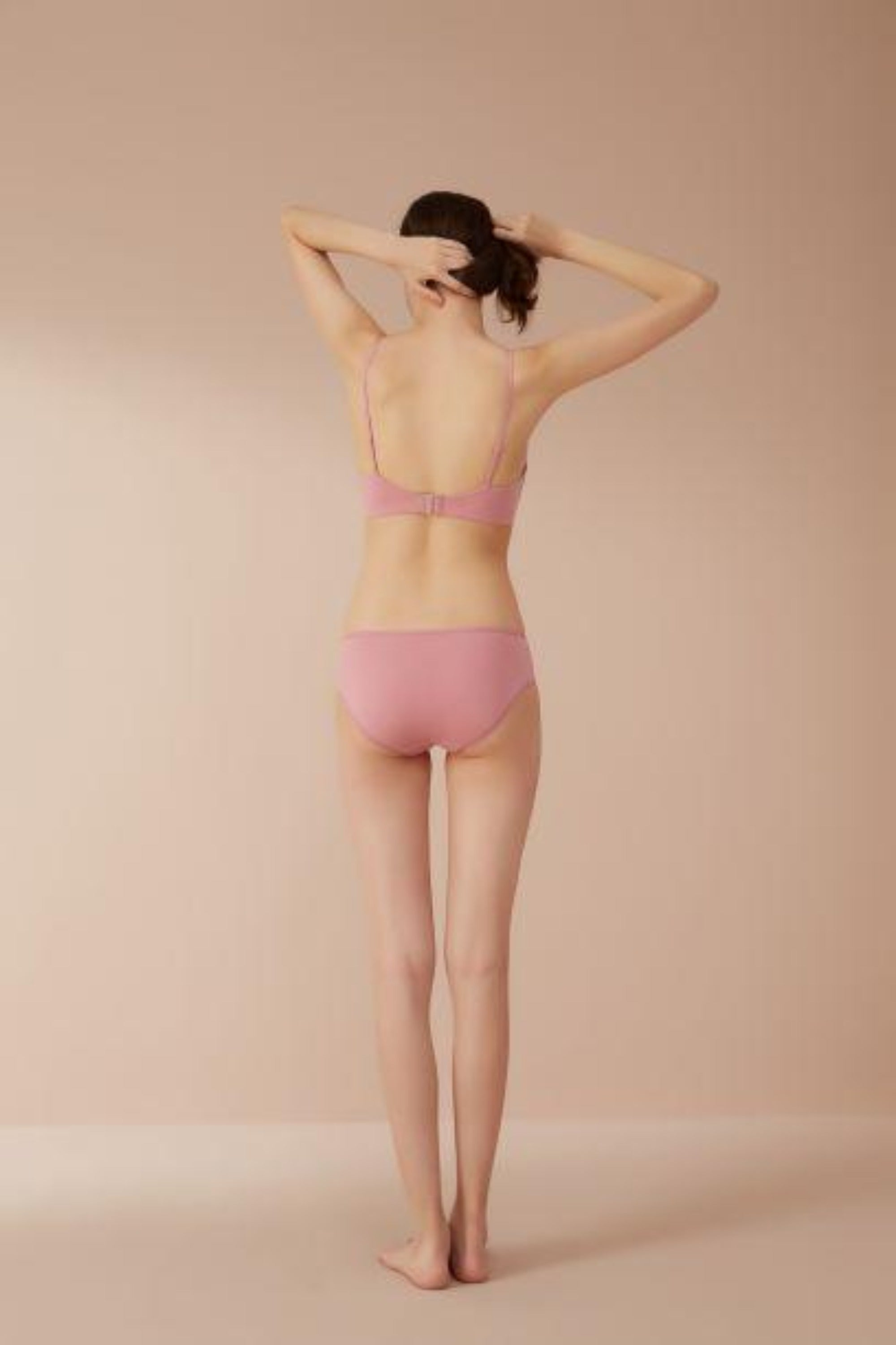 NEIWAI Classic Mid Waist Modal Briefs in Rose, 3 Pack. Moderate Coverage
