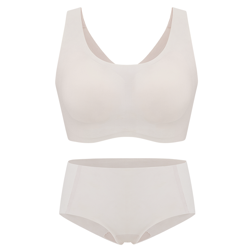 NEIWAI's Barely Zero bra and brief set in soft pink.