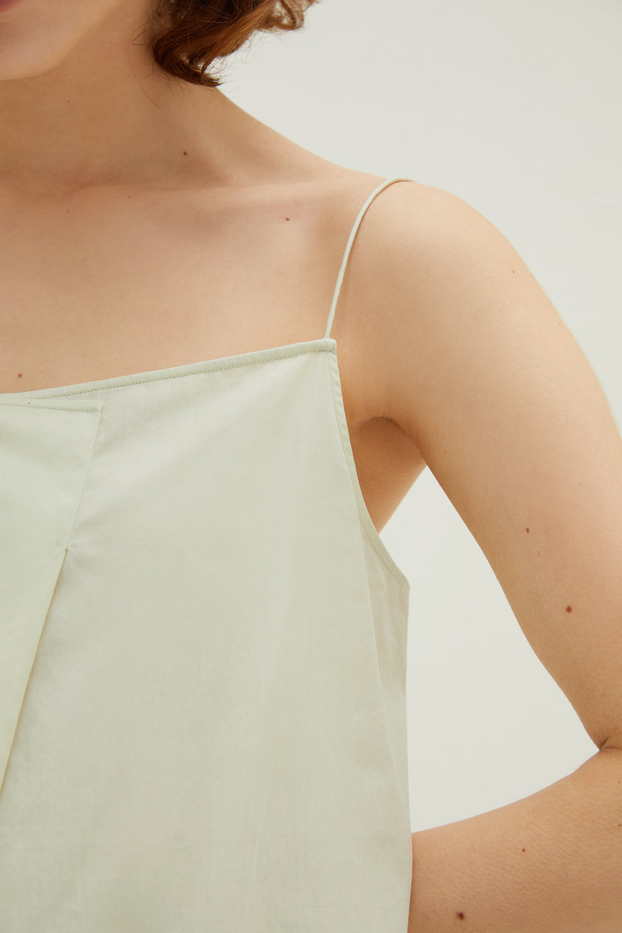 NEIWAI Cotton Pleated Night Slip in Mojito