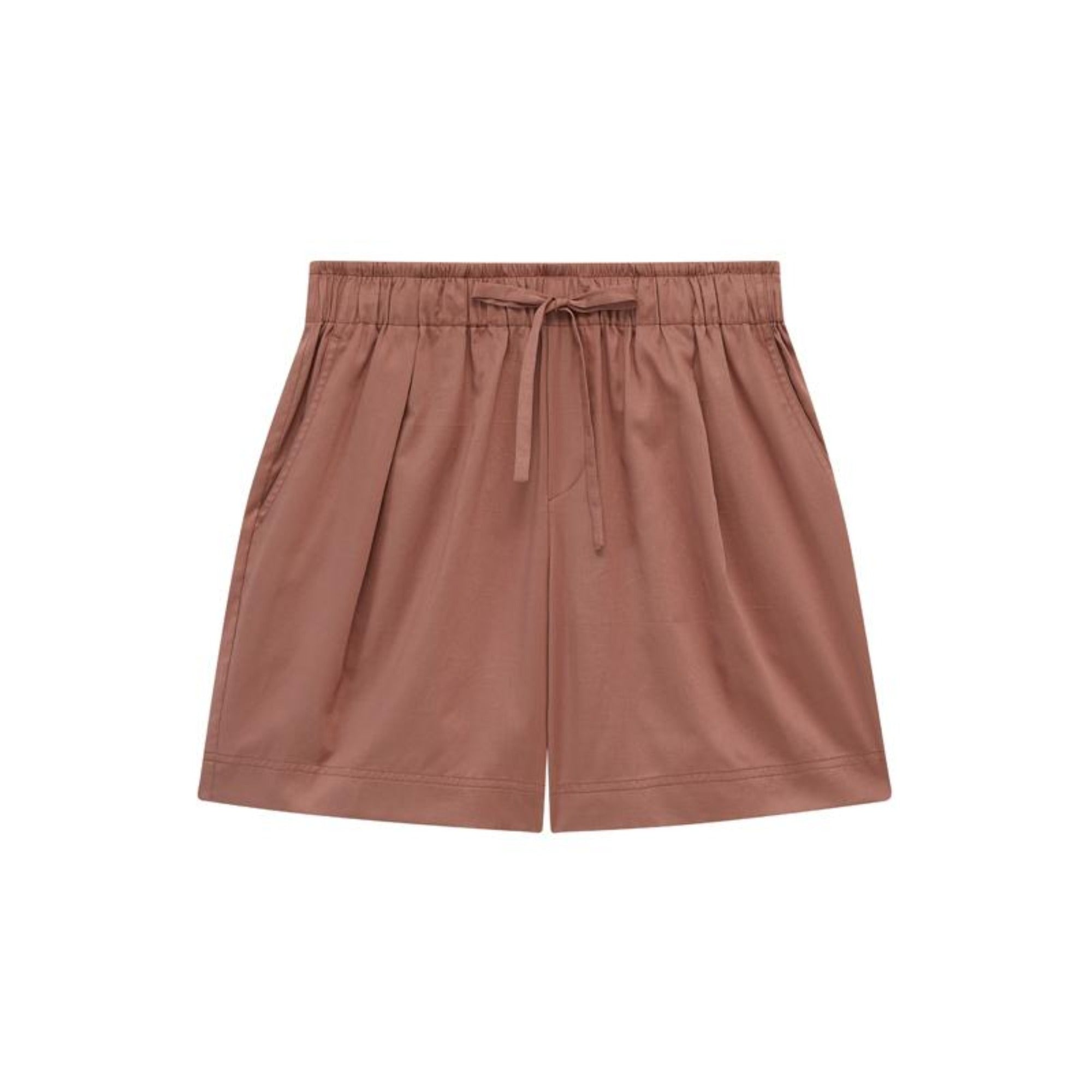 NEIWAI Cotton Sleep Shorts in Hazelnut