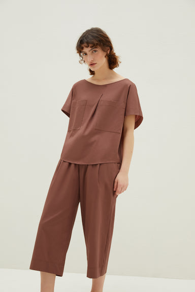 NEIWAI Cotton Seven-Point Sleep Pants in Hazelnut