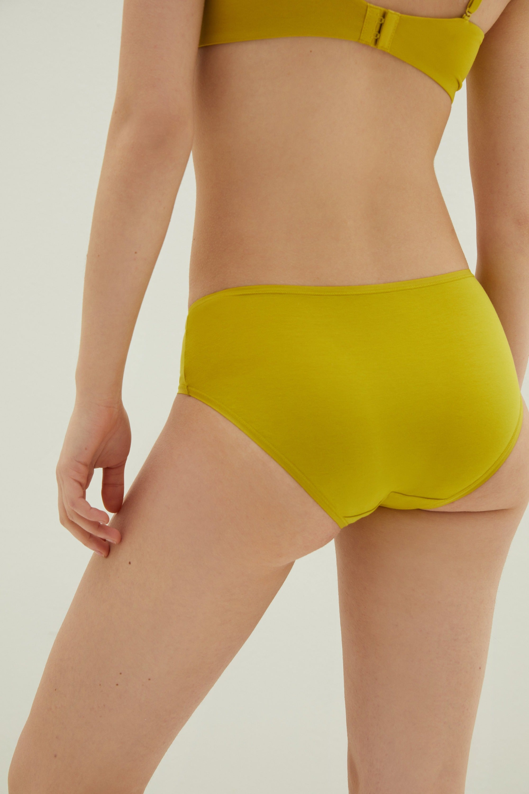 NEIWAI Classic Mid Waist Modal Briefs in Cress Green, 3 Pack. Moderate Coverage