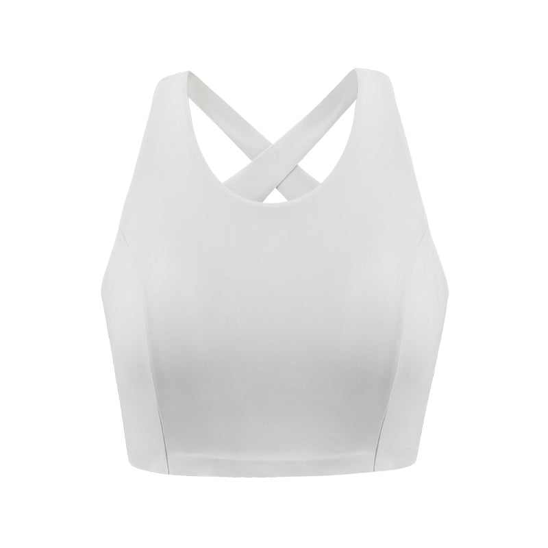 NEIWAI ACTIVE Cross Back Sports Bra in Egret