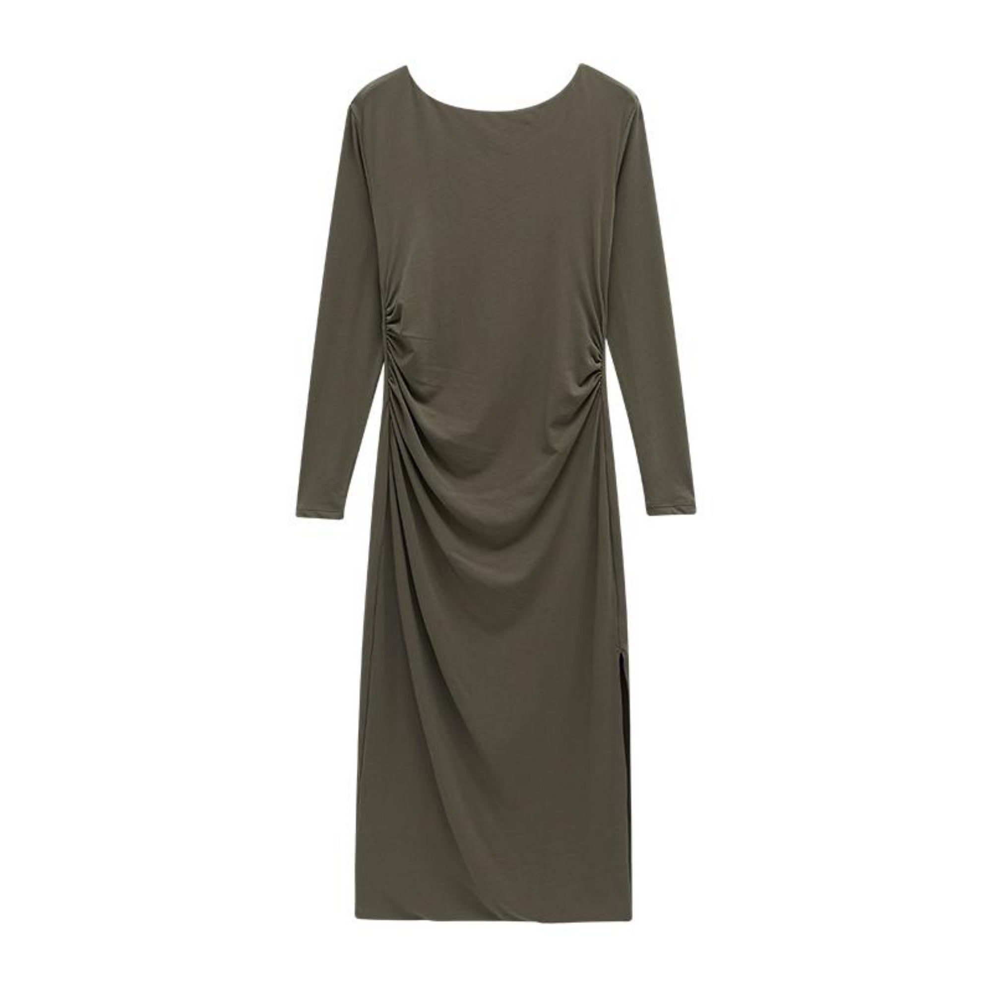 NEIWAI's Boundless Cotton Backless Dress in Gunmetal.