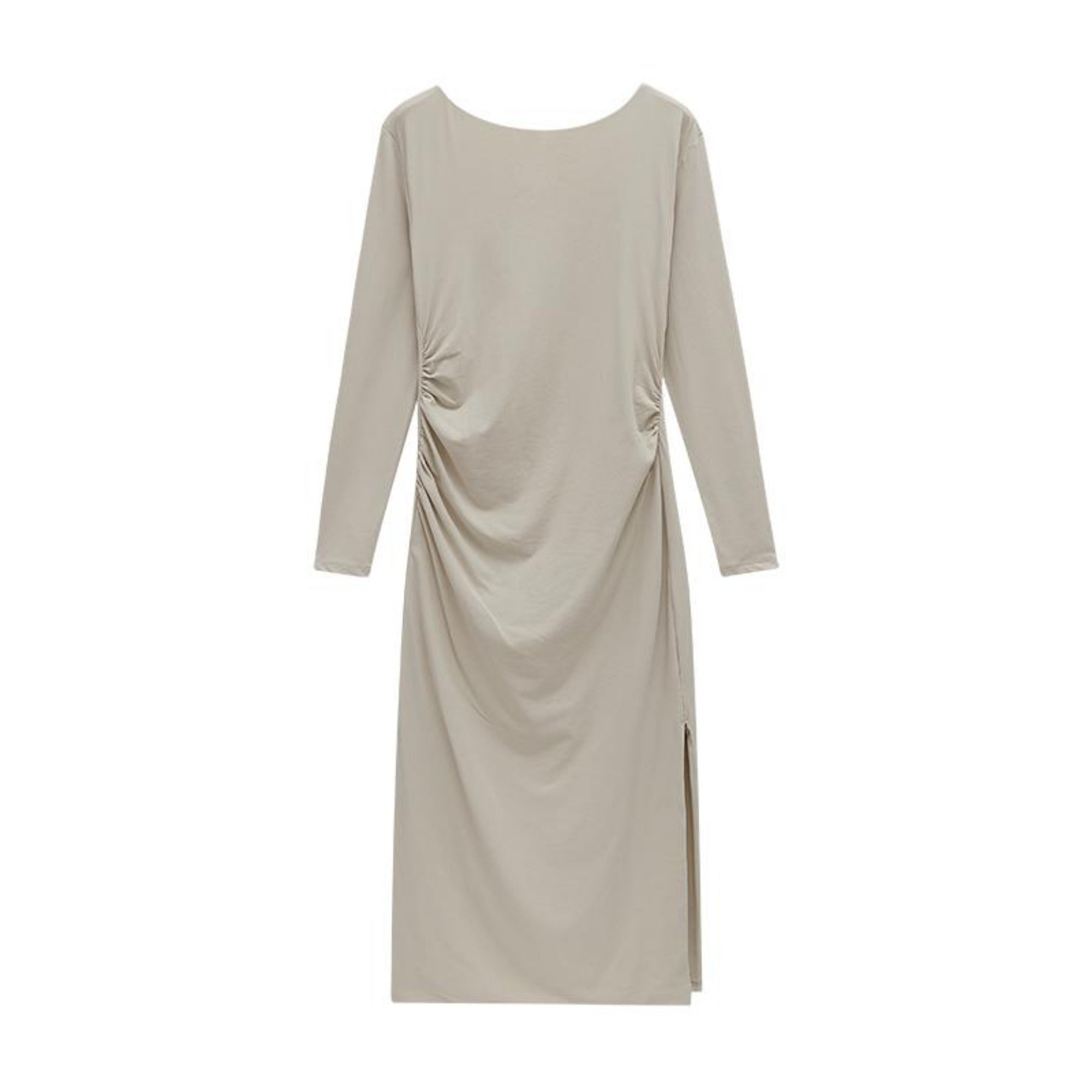 NEIWAI's Boundless Cotton Backless Dress in Cloud Gray.