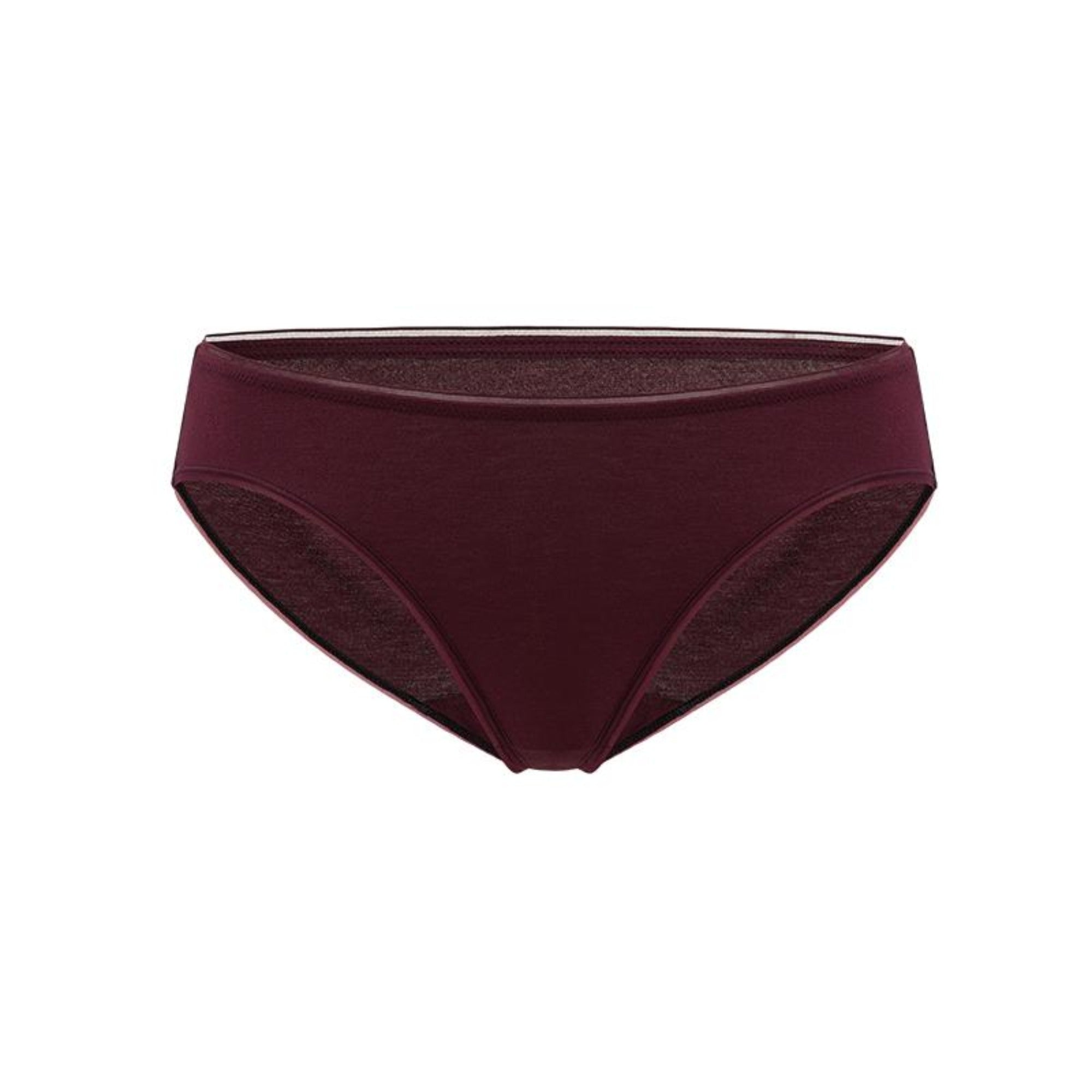 NEIWAI Hollow Stitching Low Waist Briefs in Grape Wine