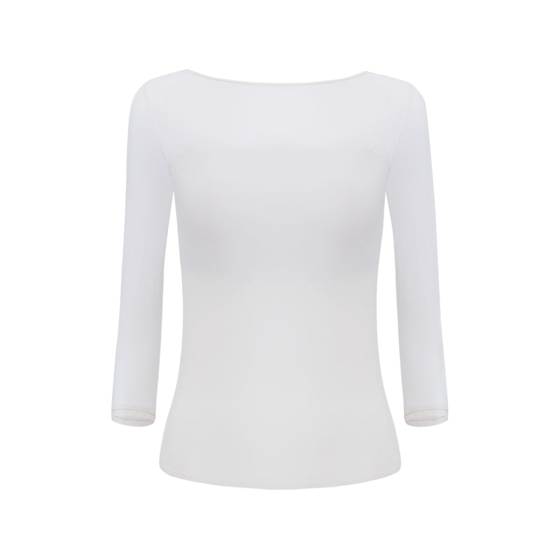 NEIWAI ACTIVE · Ballet 3/4 Sleeve V-back Sports Top in White