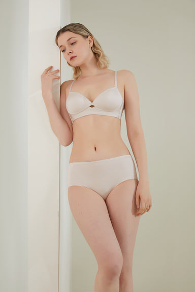 NEIWAI Cross Front Contour Plunge Bra in Soft Pink