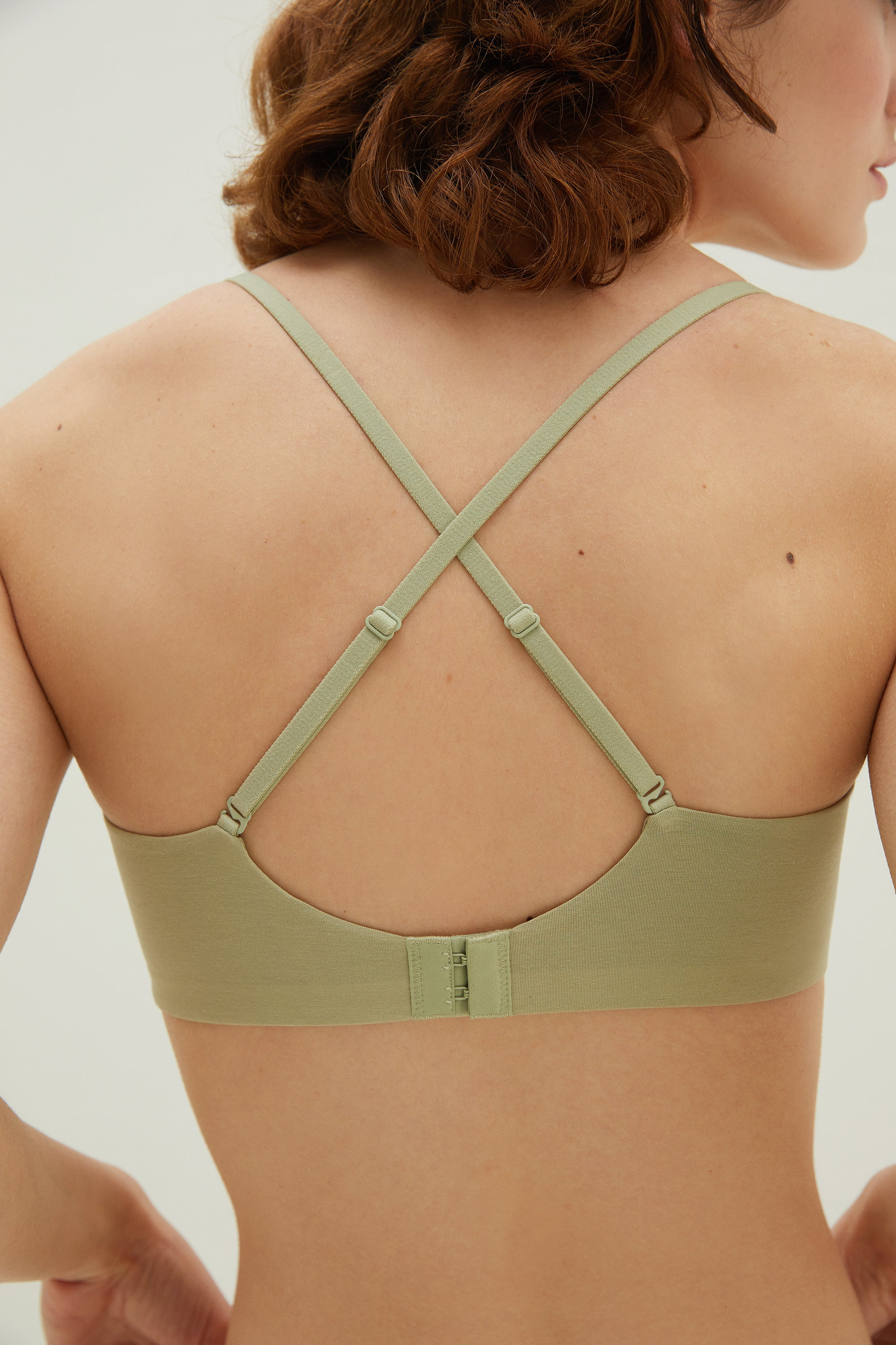 NEIWAI Convertible Soft Modal Bra in Avocado Convertible Straps