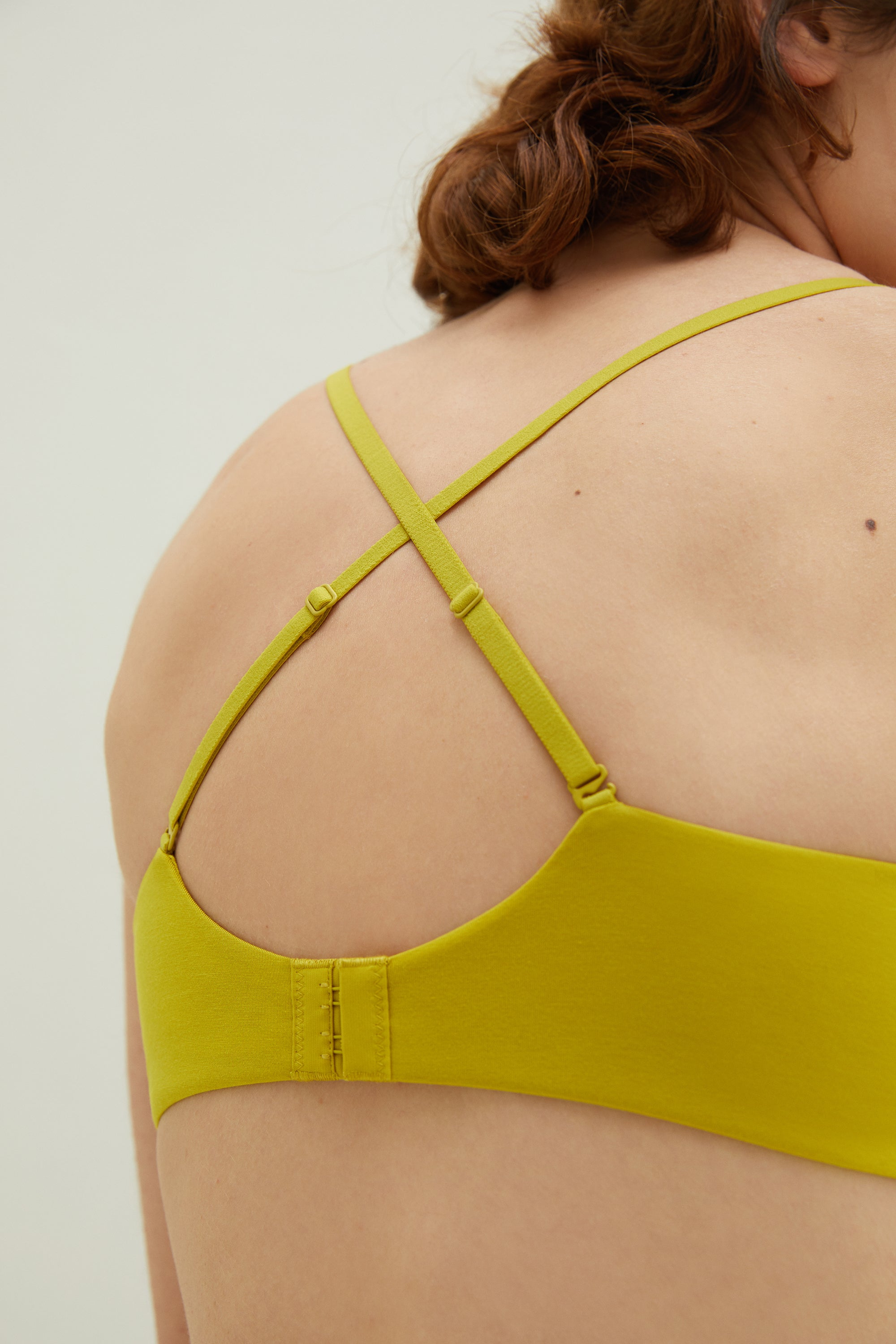 NEIWAI Convertible Soft Modal Bra in Cress Green- Convertible Straps