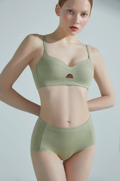 NEIWAI Convertible Bandeau Bra in Avocado