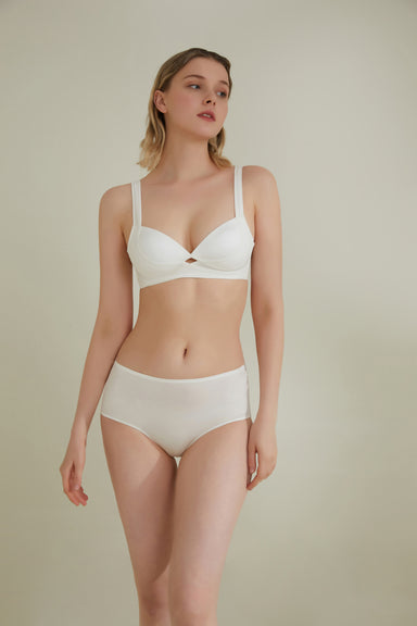 NEIWAI Cross Front High-Waist Brief in Ivory