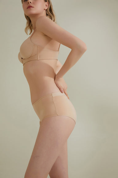 NEIWAI Cross Front High-Waist Brief in Macadamia
