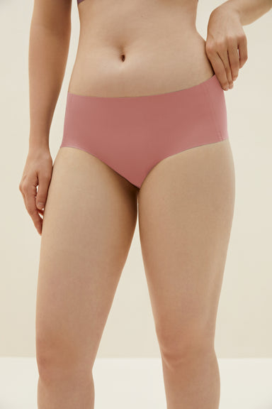 NEIWAI's Barely Zero brief in coral.