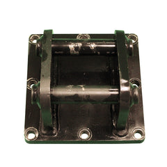 Welded pin quick hitch bracket top view