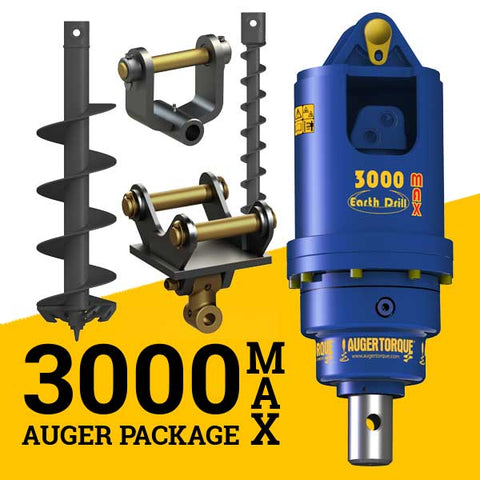 3000MAX AUGER PACKAGE  WITH DOUBLE PIN HITCH (3 - 4t)
