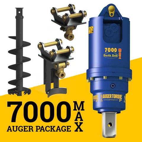 7000MAX AUGER PACKAGE  WITH DOUBLE PIN HITCH (5 - 8t)