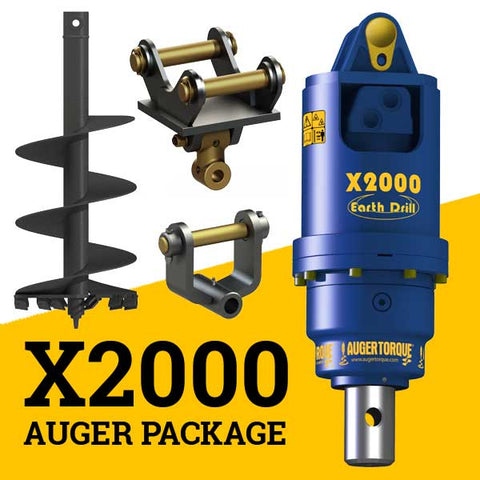X2000 AUGER PACKAGE  WITH DOUBLE PIN HITCH (1.5 - 3t)
