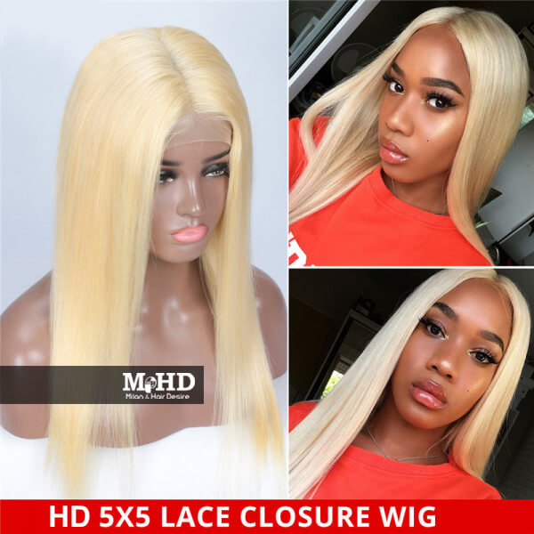HD 613 5*5 Swiss Lace Closure Wig