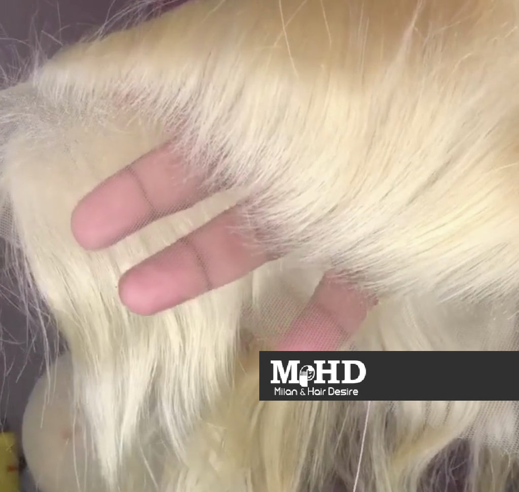 HD 613 Platinum Blonde 13*4 Straight Lace Frontal - MILAN HAIR DESIRE